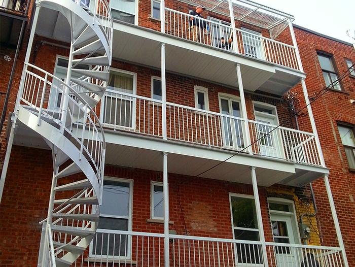 Escalier colimaçon aluminium soudé