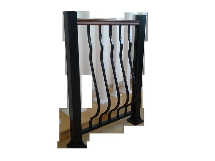 Rampe aluminium Juliette-torsade - Balcons Verdun