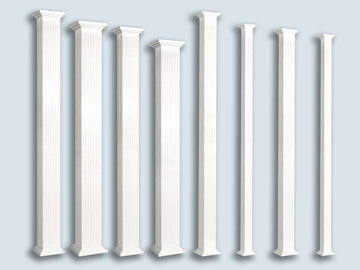 Decorative square aluminium column - Balcons Verdun