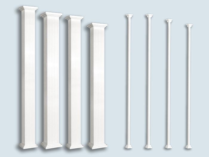 General square aluminium column - Balcons Verdun