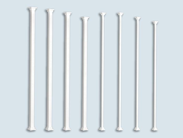 Regular square aluminium column - Balcons Verdun