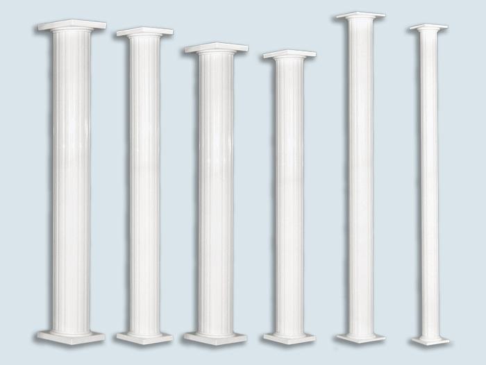 Round aluminium column - Balcons Verdun