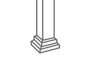 Aluminium railing Decorative posts - Balcons Verdun